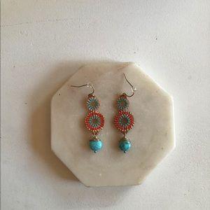Beautiful Southwestern Style Beaded Drop Earrings